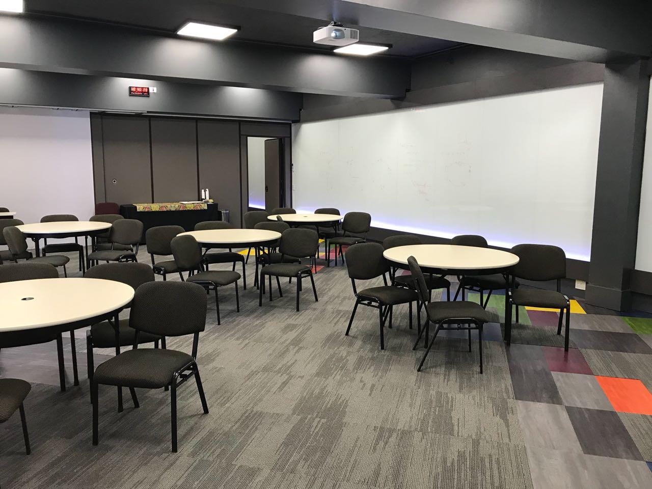 sala para treinamento corporativo